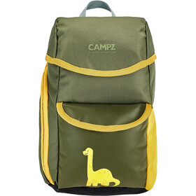 CAMPZ Backpack Kids Dino grey/yellow